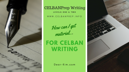 CELBANPrep Writing