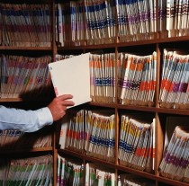 Shelves of Hospital Files