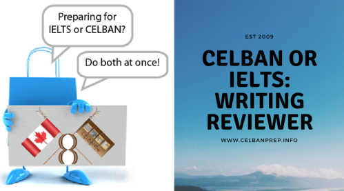 CELBAN or IELTS Writing Reviewer