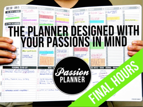 Get YOUR Passion Planners