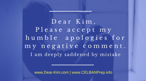 Dear CELBAN Kim, Please accept my humble apologies for my negative comment.