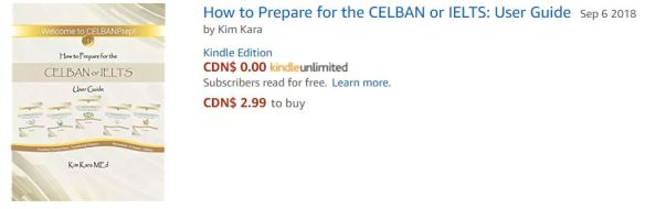 I am so excited! Amazon just released a new CELBANPrep book