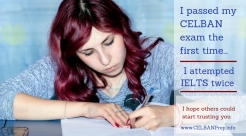 I passed my CELBAN exam the first time_ CELBAN vs IELTS